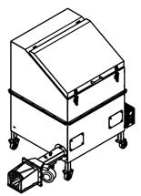 06652831 Automatyczny podajnik do spalania biomasy 1m3 400V 30kW, głowica żeliwna (paliwo: trociny, wióry, zrębki, kora, brykiet, agrobrykiet, pellet, pestki owoców)