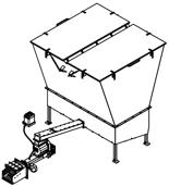 06652889 Automatyczny podajnik z zapalarką do spalania biomasy 10m3 400V 120kW, głowica: żeliwna (paliwo: trociny, wióry, zrębki, kora, brykiet, agrobrykiet, pellet, pestki owoców)
