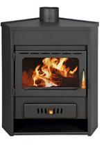 23055334 Piec wolnostojący 12kW na drewno, węgiel (średnica spalin: 150 mm)