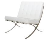 99850954 Fotel BA1 inspirowany Barcelona (kolor: biały)