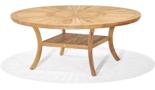 99855617 Stół okrągły z drewna tekowego Komodo 180