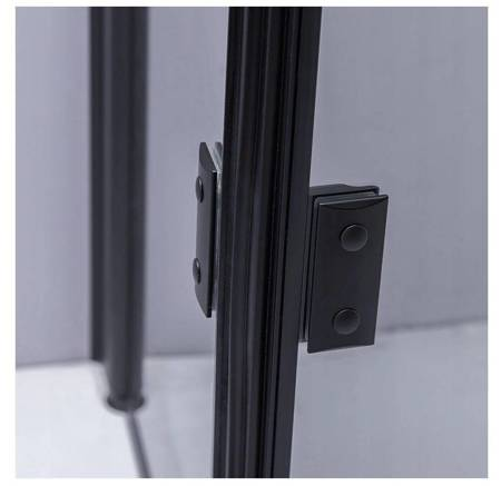 HYDAR KABINA PRYSZNICOWA 80x80 SZKŁO 6mm KWADRAT CZARNA 23178187