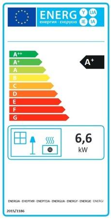POMA Piec wolnostojący La Nordica 6,6kW Tea (kolor: czarny) - spełnia anty-smogowy EkoProjekt 88872746
