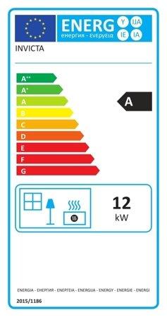 Piec wolnostojący Invicta 12kW Gomont (kolor: antracyt) - spełnia anty-smogowy EkoProjekt 86829179